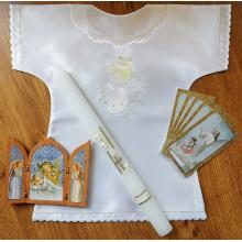 Balíček na krst - biela výšivka