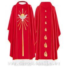 Červený ornát - Výšivka svätý Duch - 015