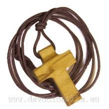 Drevený krížik na šnúrke - 3cm