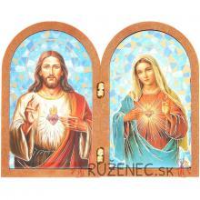 Dvojkrídlová plaketa 12x9.5cm - Ježiš+Mária