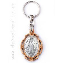 Kľúčenka - drevo - sv. Benedikt