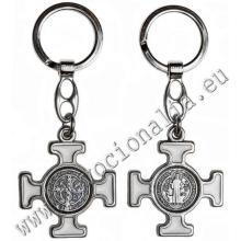 Kľúčenka - kríž sv. Benedikta - biely