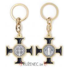 Kľúčenka - kríž sv. Benedikta - čierny