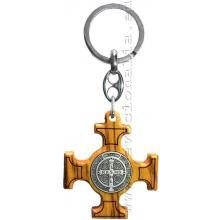 Kľúčenka - kríž sv. Benedikta - drevo