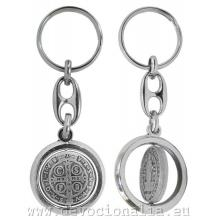 Kľúčenka - medaila sv. Benedikta - otočná
