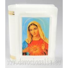 Krabička na ruženec 4.8x6cm - Srdce Panny Márie