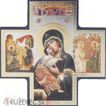 Krížová ikona 15x15cm - Madona