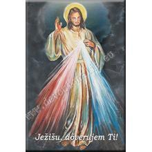 Magnetka s modlitbou - Milosrdný Ježiš