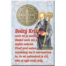 Magnetka s modlitbou - Svätý Benedikt