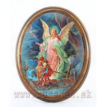 Obraz na dreve 10.5x13cm - Anjel Strážca