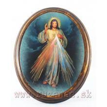 Obraz na dreve 10.5x13cm - Milosrdný Ježiš