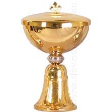 Pozlátené ciborium - 16cm