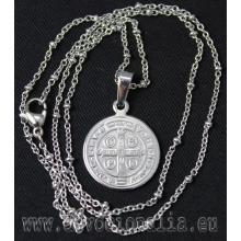 Prívesok s retiazkou - Medaila sv. Benedikta - chir. oceľ