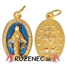 Prívesok -  Zázračná medaila - pozlátená