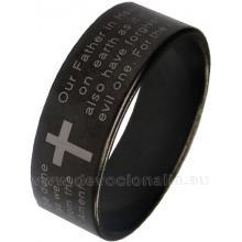 Prsteň - Otče náš - čierna farba