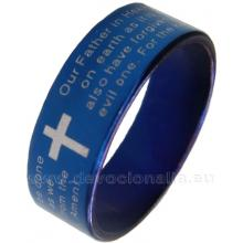 Prsteň - Otče náš - modrá farba