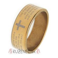 Prsteň - Otče náš - zlatá farba