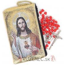 Puzdro + ruženec - Božské srdce Ježiša