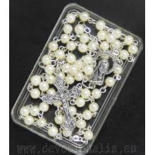 Ruženec drobný - 4mm biele perly