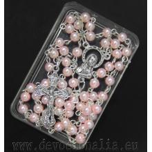 Ruženec drobný - 4mm ružové perly