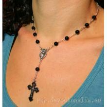 Ruženec - náhrdelník - čierny onyx