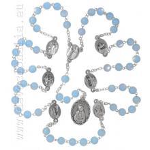 Ruženec  sedembolestný - svetlomodrá perleť