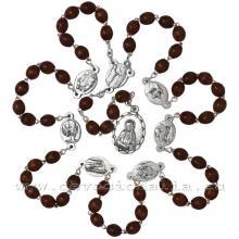 Ruženec -  sedembolestný - tmavohnedý