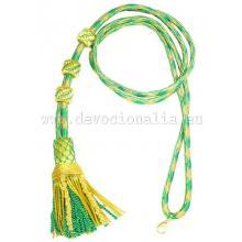 Šnúra na Pektoral - zlatá + zelená