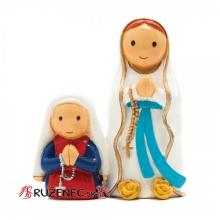 Svätá Bernadeta s Pannou Máriou - 8cm
