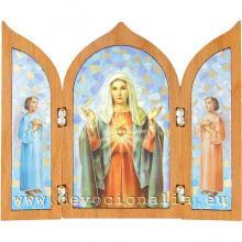 Triptych - Nepoškvrnené Srdce Panny Márie