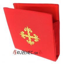 Vyšívaná Burza - 20x20cm - červená