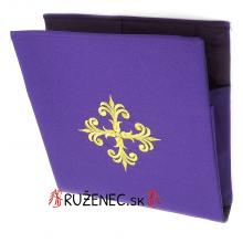 Vyšívaná Burza - 20x20cm - fialová