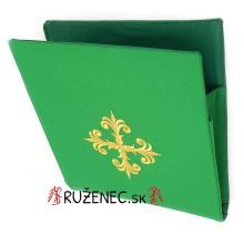Vyšívaná Burza - 20x20cm - zelená