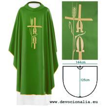 Zelený ornát - Výšivka A+Ω